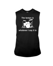 The Tempo is Whatever I say Funny Drummer Drums Sleeveless Tee thumbnail