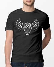 FUNNY TSHIRT FOR MUSICIAN - THE OWL NOTE Classic T-Shirt lifestyle-mens-crewneck-front-13