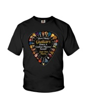 How Many Guitars Does You Need Funny Guitar Youth T-Shirt thumbnail