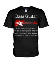FUNNY BASS GUITAR TSHIRT FOR BASSIST V-Neck T-Shirt tile