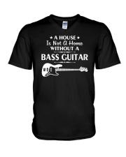 FUNNY BASS GUITAR TSHIRT FOR BASSIST V-Neck T-Shirt thumbnail