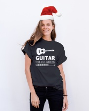 ELECTRIC ACOUSTIC GUITAR TSHIRT FOR GUITARIST Classic T-Shirt lifestyle-holiday-crewneck-front-1