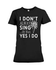 FUNNY DESIGN FOR SINGING LOVERS Premium Fit Ladies Tee thumbnail