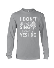 FUNNY DESIGN FOR SINGING LOVERS Long Sleeve Tee thumbnail