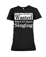 CHOIR SINGING SINGER VOCALIST - SING TSHIRT Premium Fit Ladies Tee tile
