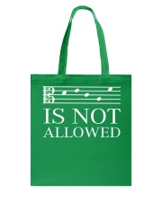 DECAF IS NOT ALLOWED TENOR ALTO CLEF VERSION Tote Bag thumbnail