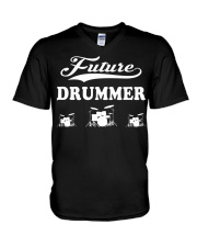 FUNNY DRUM DRUMS TSHIRT FOR DRUMMER V-Neck T-Shirt thumbnail