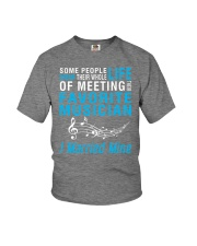 Meeting Favorite Musician married Wife Husband Youth T-Shirt thumbnail