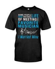 Meeting Favorite Musician married Wife Husband Premium Fit Mens Tee thumbnail