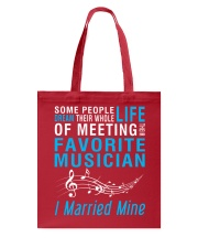 Meeting Favorite Musician married Wife Husband Tote Bag thumbnail