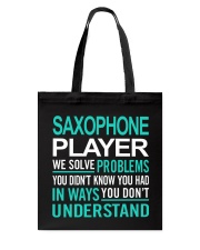 FUNNY SAX TSHIRT FOR SAXOPHONE PLAYER Tote Bag thumbnail