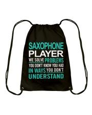 FUNNY SAX TSHIRT FOR SAXOPHONE PLAYER Drawstring Bag thumbnail