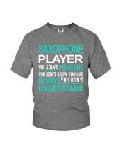 FUNNY SAX TSHIRT FOR SAXOPHONE PLAYER Youth T-Shirt thumbnail