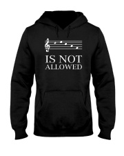 DECAF IS NOT ALLOWED TREBLE VERSION Hooded Sweatshirt thumbnail