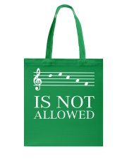 DECAF IS NOT ALLOWED TREBLE VERSION Tote Bag thumbnail