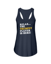 RELAX THE TRUMPET PLAYER IS HERE Ladies Flowy Tank thumbnail