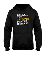 RELAX THE TRUMPET PLAYER IS HERE Hooded Sweatshirt thumbnail
