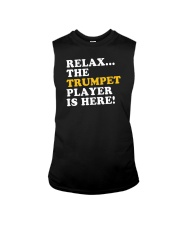 RELAX THE TRUMPET PLAYER IS HERE Sleeveless Tee thumbnail