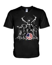 FUNNY DRUM DRUMS TSHIRT FOR DRUMMER V-Neck T-Shirt thumbnail
