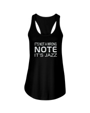 ITS NOT A WRONG NOTE ITS JAZZ MUSIC MUSICIAN Ladies Flowy Tank thumbnail