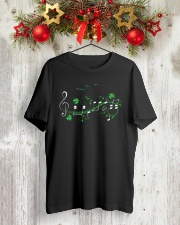 IRISH SHAMROCK MUSIC NOTE TSHIRT - TREBLE VERSION Classic T-Shirt lifestyle-holiday-crewneck-front-2