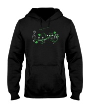 IRISH SHAMROCK MUSIC NOTE TSHIRT - TREBLE VERSION Hooded Sweatshirt thumbnail