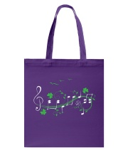 IRISH SHAMROCK MUSIC NOTE TSHIRT - TREBLE VERSION Tote Bag thumbnail