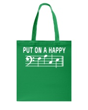 PUT ON A HAPPY FACE BASS CLEF FUNNY MUSIC MUSICIAN Tote Bag thumbnail