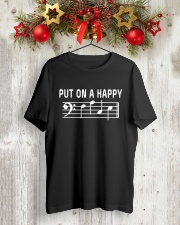 PUT ON A HAPPY FACE BASS CLEF FUNNY MUSIC MUSICIAN Classic T-Shirt lifestyle-holiday-crewneck-front-2