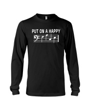 PUT ON A HAPPY FACE BASS CLEF FUNNY MUSIC MUSICIAN Long Sleeve Tee thumbnail