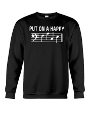 PUT ON A HAPPY FACE BASS CLEF FUNNY MUSIC MUSICIAN Crewneck Sweatshirt thumbnail