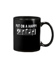 PUT ON A HAPPY FACE BASS CLEF FUNNY MUSIC MUSICIAN Mug thumbnail