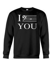I C YOU BASS CLEF VERSION Crewneck Sweatshirt thumbnail