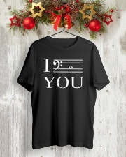 I C YOU BASS CLEF VERSION Classic T-Shirt lifestyle-holiday-crewneck-front-2