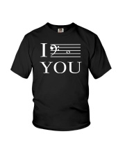 I C YOU BASS CLEF VERSION Youth T-Shirt thumbnail