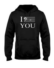 I C YOU BASS CLEF VERSION Hooded Sweatshirt thumbnail