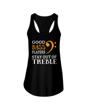 Good bass players stay out of Treble - Bassist Ladies Flowy Tank thumbnail