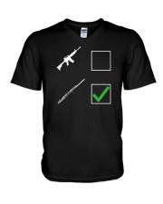 FUNNY DESIGN FOR FLUTE PLAYERS V-Neck T-Shirt thumbnail