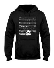 Funny Shark background music bass clef t-shirt Hooded Sweatshirt thumbnail