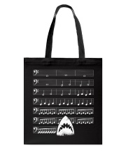Funny Shark background music bass clef t-shirt Tote Bag thumbnail