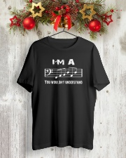 I'M A FAB FABULOUS DAD BASS CLEF - FATHER'S DAY Classic T-Shirt lifestyle-holiday-crewneck-front-2