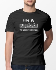 I'M A FAB FABULOUS DAD BASS CLEF - FATHER'S DAY Classic T-Shirt lifestyle-mens-crewneck-front-13