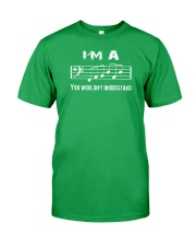 I'M A FAB FABULOUS DAD BASS CLEF - FATHER'S DAY Classic T-Shirt front
