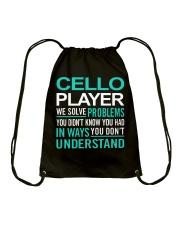FUNNY TSHIRT FOR CELLO  PLAYERS  Drawstring Bag thumbnail