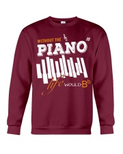 AWESOME DESIGN FOR PIANO PLAYERS Crewneck Sweatshirt front