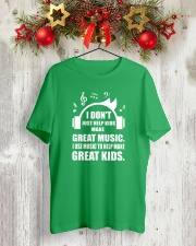 Great Music To Help Make Great Kids Funny Musician Classic T-Shirt lifestyle-holiday-crewneck-front-2
