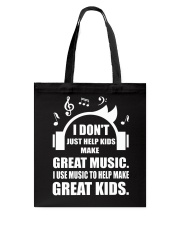 Great Music To Help Make Great Kids Funny Musician Tote Bag thumbnail