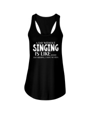 A Day Without No Idea Funny Singing Musicals Ladies Flowy Tank thumbnail