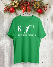E Fb BAND GEEK FORMULA Classic T-Shirt lifestyle-holiday-crewneck-front-2