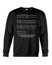 FUNNY MUSIC THEORY TSHIRT - BABY SHARK SHEET Crewneck Sweatshirt thumbnail